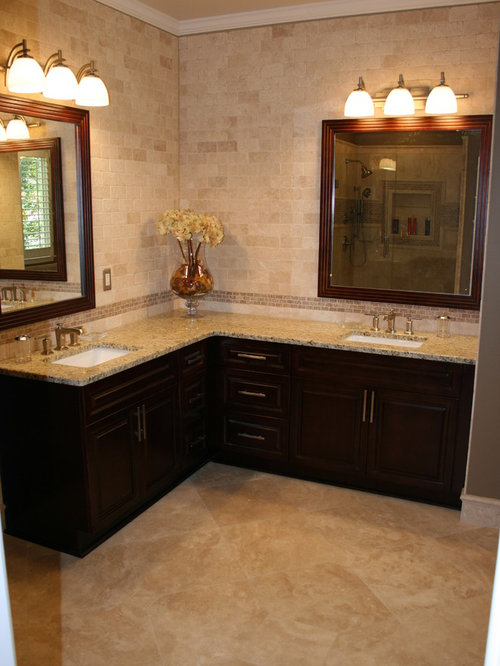 corner double sink bathroom vanity corner vanity houzz 23006