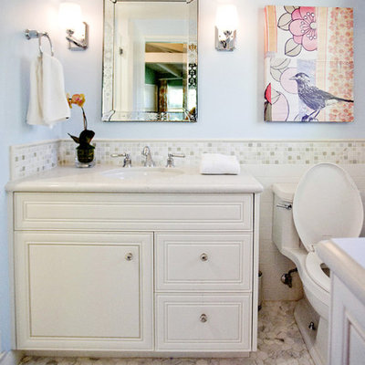 Inspiration for a contemporary mosaic tile bathroom remodel in Los Angeles