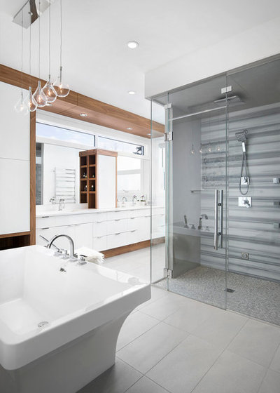 Great Contemporary Bathroom by Muretto Custom Homes