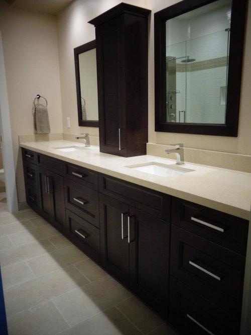 Modern dreamy marfil caesarstone counter home design ideas for Modern bathroom countertops