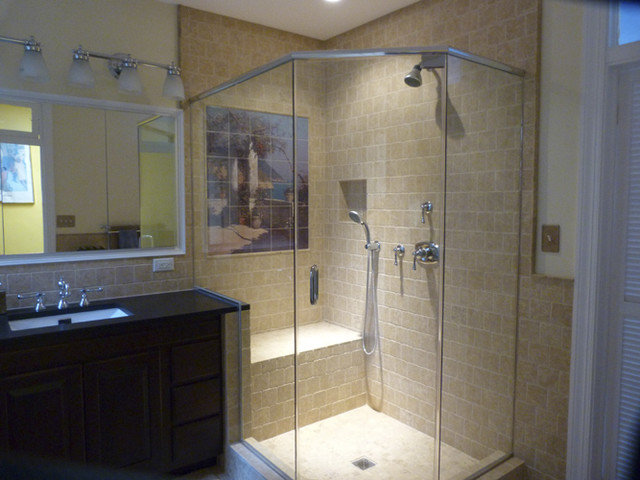 Modern Bathroom by Pacifica Tile Art Studio
