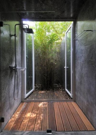 Tropical Bathroom Amazing Shower