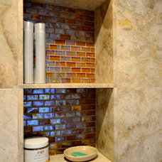 Beach Style Bathroom by Glass Tile Warehouse