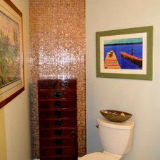 Beach Style Bathroom by Glass Tile Warehouse