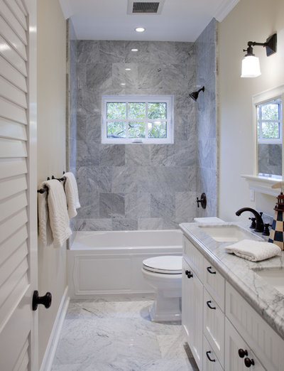 Beach Style Bathroom by Flagg Coastal Homes