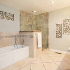Transitional Bathroom by Squint Photography