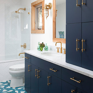 Blue And Gold Bathroom Ideas & Photos | Houzz