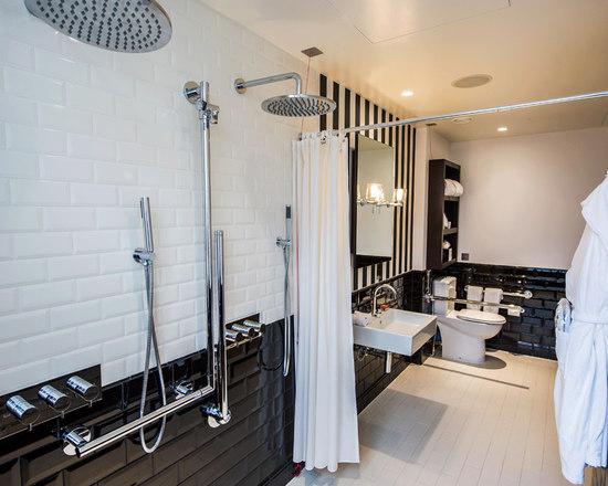 Rain Shower Head Built In Tiled Shower S Houzz