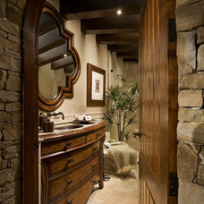 mediterranean bathroom by AMS Landscape Design Studios, Inc.