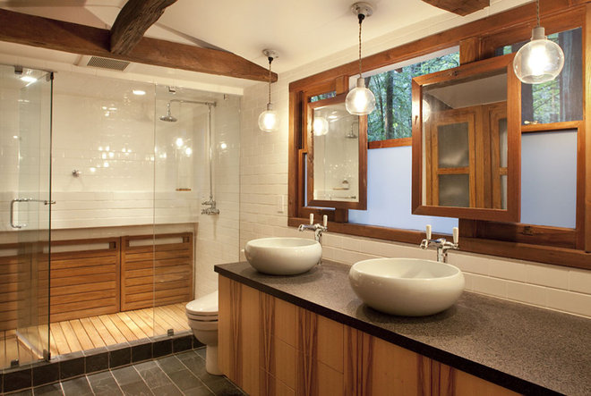 Rustic Bathroom by Amy A. Alper