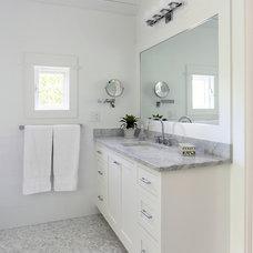 Transitional Bathroom by Matthew Bolt Graphic Design