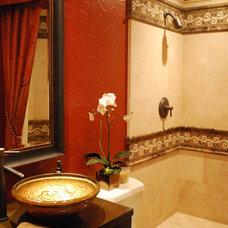 Mediterranean Bathroom by McRae Lambert & Dunn