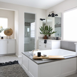 Inspiration for a mid-sized transitional bathroom remodel in Orange County