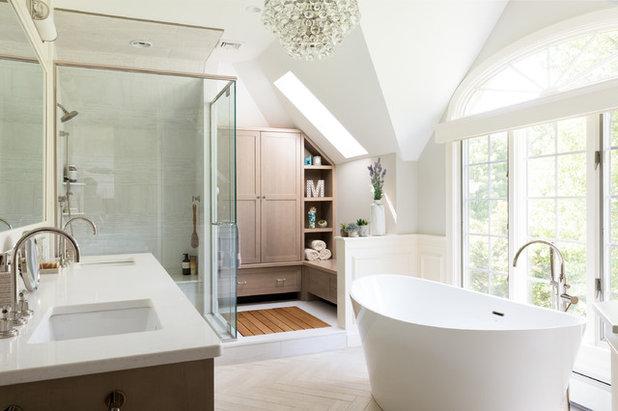 Transitional Bathroom by Howell Custom Building Group