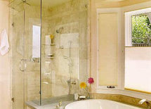 Was the shower completely custom, or was there preformed shower base a