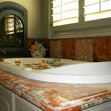 Mediterranean Bathroom by the bohemian kitchen of Gozan Interiors