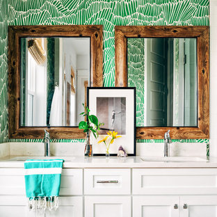 Example of a mid-sized coastal 3/4 bathroom design in Other