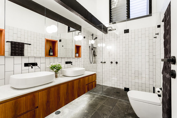 Industrial Bathroom by Sushiiphoto