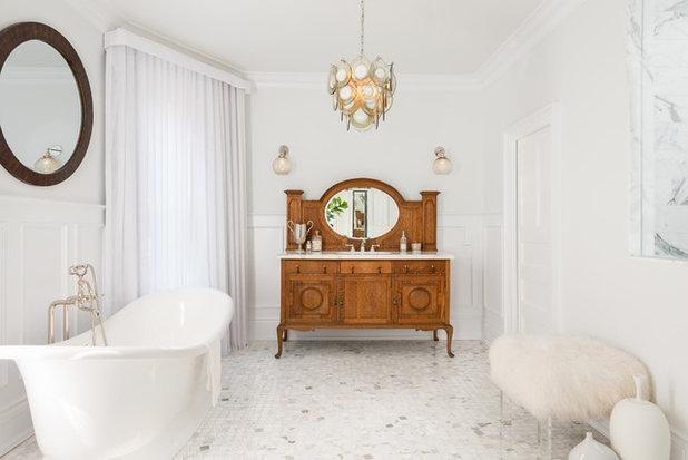 British Colonial Bathroom by Toronto Interior Design Group