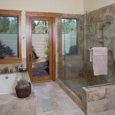 Eclectic Bathroom by Norman Building & Design