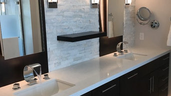 Another masterpiece:-)...fully remodeled master bathroom...converted from a walk