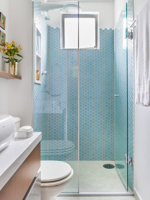 Small Eclectic Bathroom Ideas Designs Remodel Photos Houzz