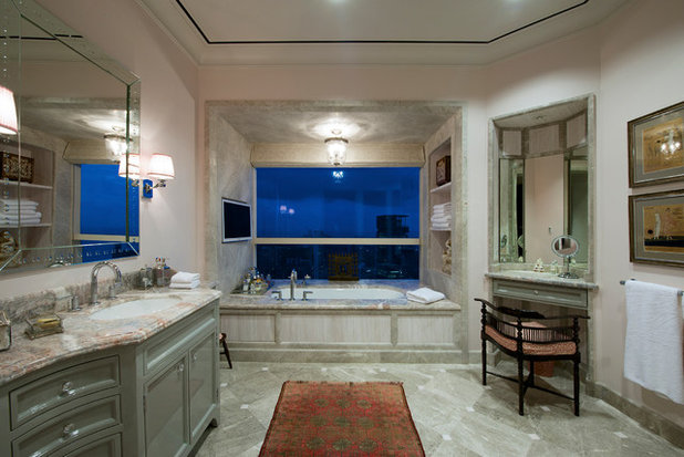 Transitional Bathroom by Architecture BRIO
