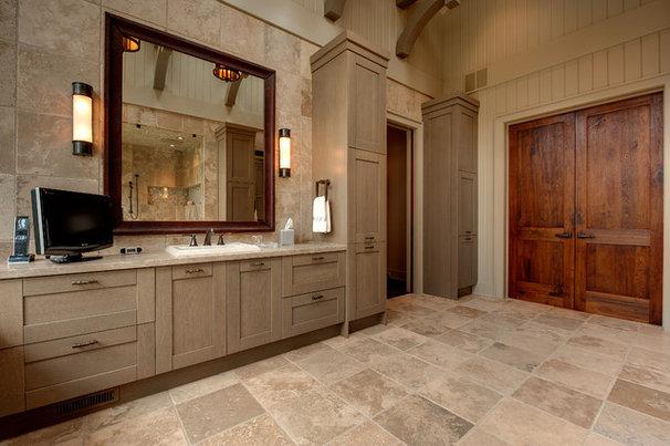 Rustic Bathroom by Moon Bros Inc