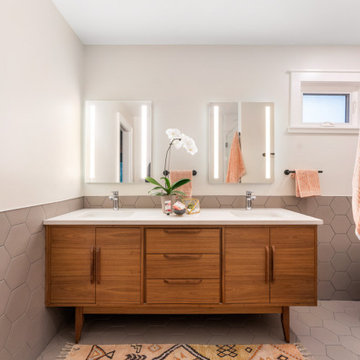 Mid Century Master Bathroom Remodel