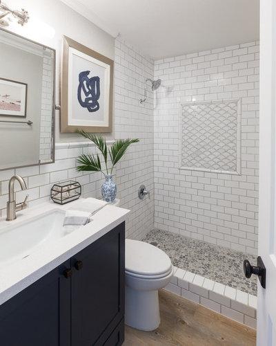 Beach Style Bathroom by Leslie Harris-Keane Interior Design