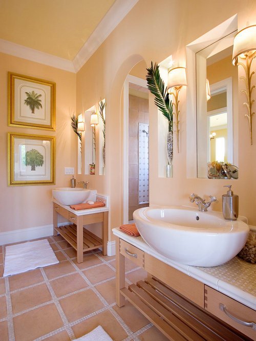 Peach Bathroom Design Ideas Remodels Amp Photos