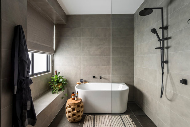 Contemporary Bathroom by McCarthy Homes QLD