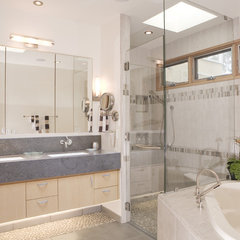 contemporary bathroom by square three design studios