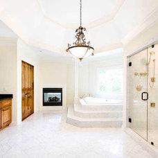 Mediterranean Bathroom by Boye Architecture/boyehomeplans.com