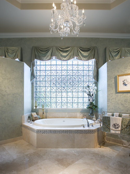Window treatments over tub houzz Bathroom valances for windows