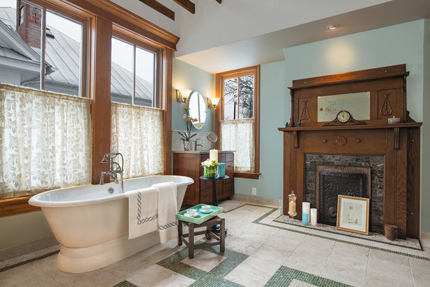 Traditional Bathroom by Ric J Photography. Bath of the Week  Converting a 19th Century Bedroom in Texas