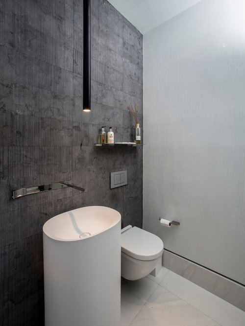 Small bathroom lighting houzz for Modern guest bathroom designs
