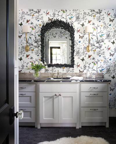 Transitional Bathroom by MITCHELL HILL