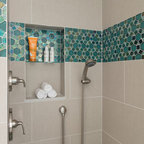L a master bathroom remodel transitional bathroom - Bathroom renovation order of trades ...
