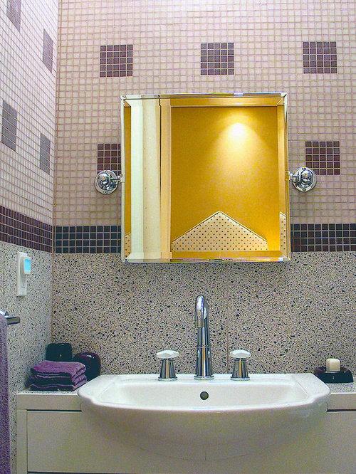 30 Trendy Terrazzo Floor Bathroom with Purple Walls Design Ideas ...