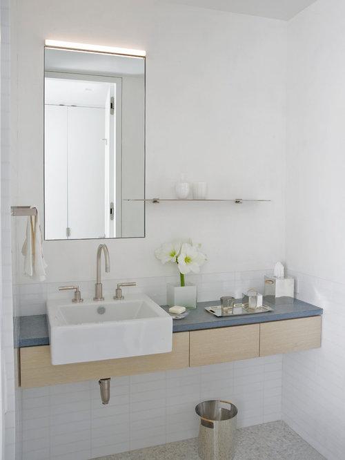 badezimmer mit mosaik-bodenfliesen und glasfliesen: design-ideen, Hause ideen