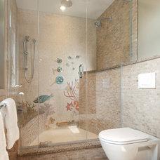 Beach Style Bathroom by Design First Interiors