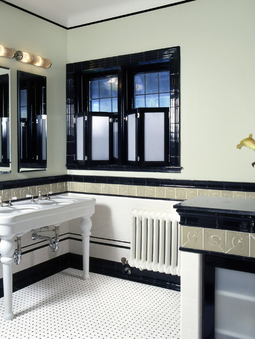Art deco bathrooms houzz for 1920s bathroom remodel ideas