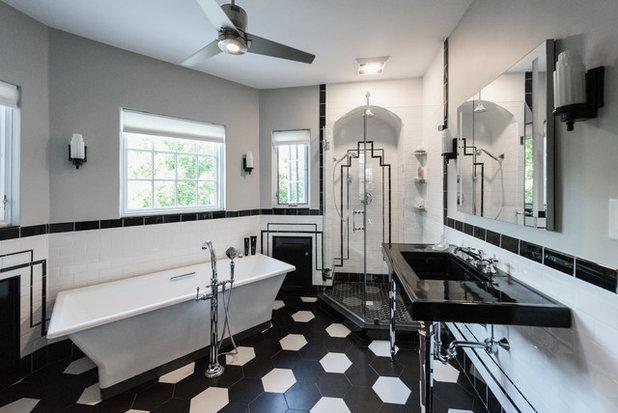 Transitional Bathroom by Cypress Design Co.