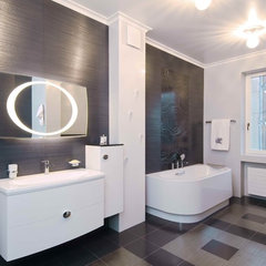 eclectic bathroom by S-Studio
