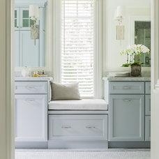 Transitional Bathroom by Janine Dowling Design Inc.