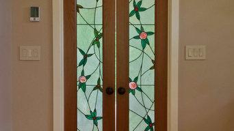 Art Nouveau Stained Glass Door-Light
