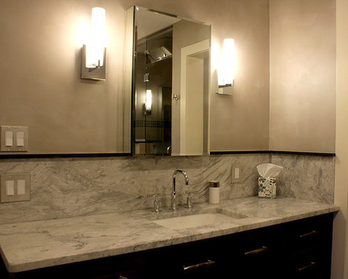 Marvelous Platinum Velvet Metallic Paint Finish On Master Bath Walls