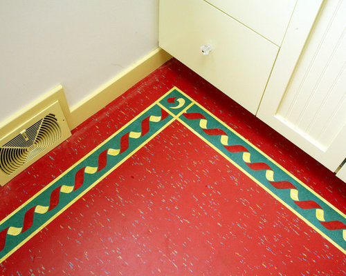 Retro linoleum home design ideas renovations photos for Vintage linoleum flooring