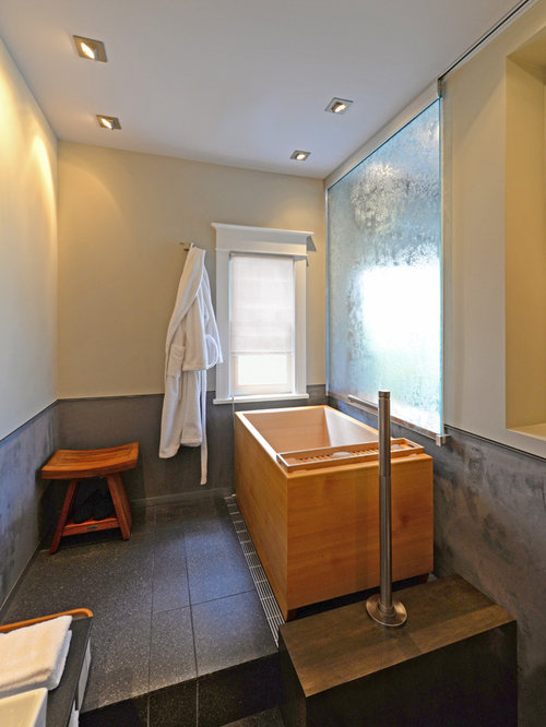 Shower room design ideas renovations photos with a for Japanese shower room